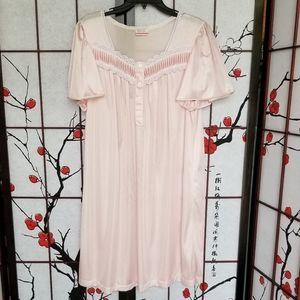 Vintage Basic Editions Large Pink Nightgown Nylon